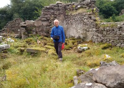 Man in the ruins on Isle Martin