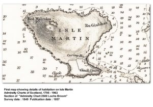 Admiralty Chart Loch Broom-1849 showing Isle Martin