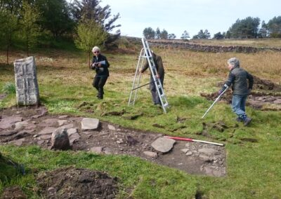Archaeology dig on Isle Martin 2019