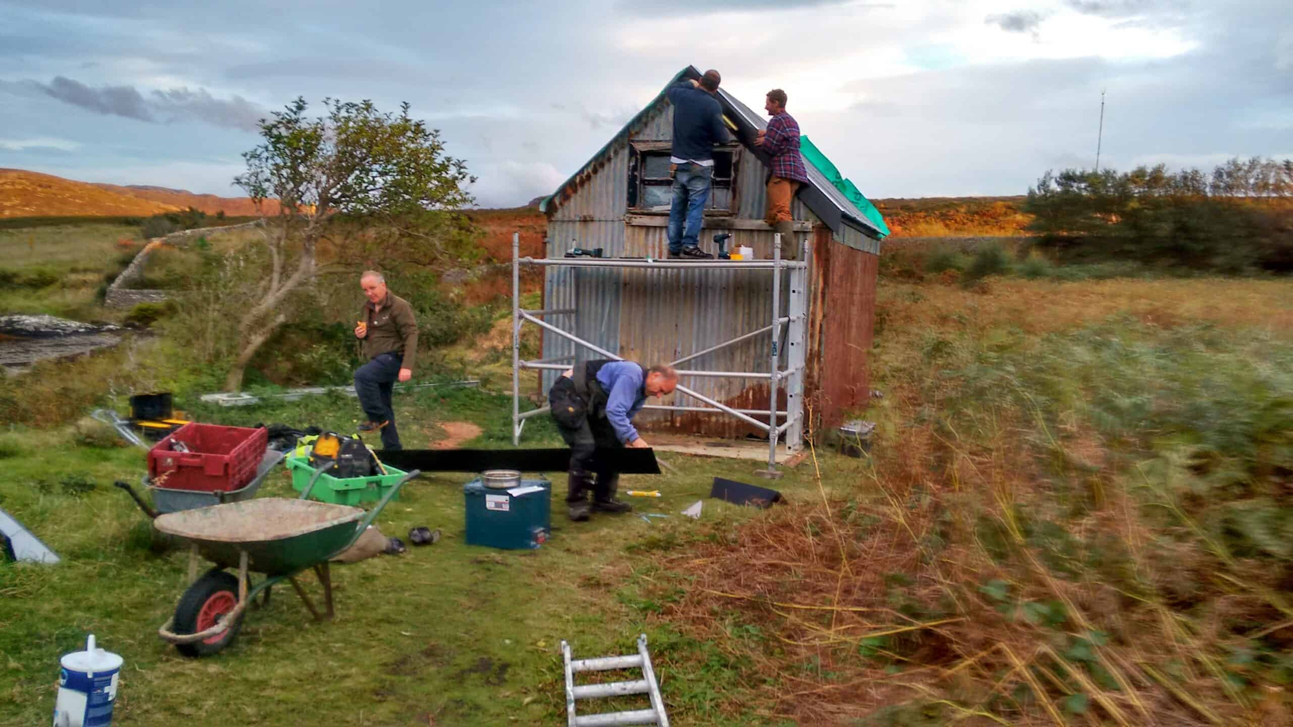 Isle Martin Croft House being renovated by volunteers in 2017