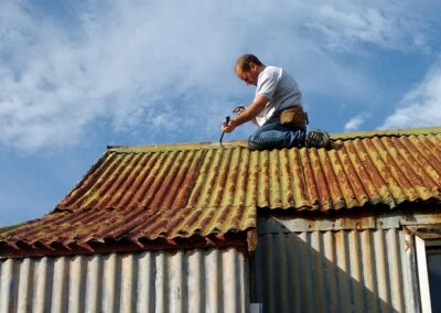 Roof repairs on Isle Martin