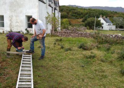 Repairs on Isle Martin