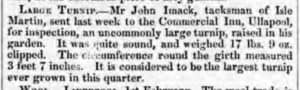 John Imack  mentioned in the Inverness Courrier