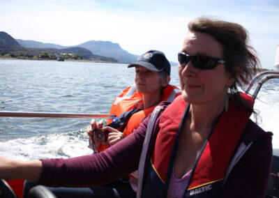 Ladies on the boat to Isle Martin