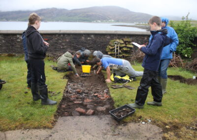 Archaeology dig on Isle Martin