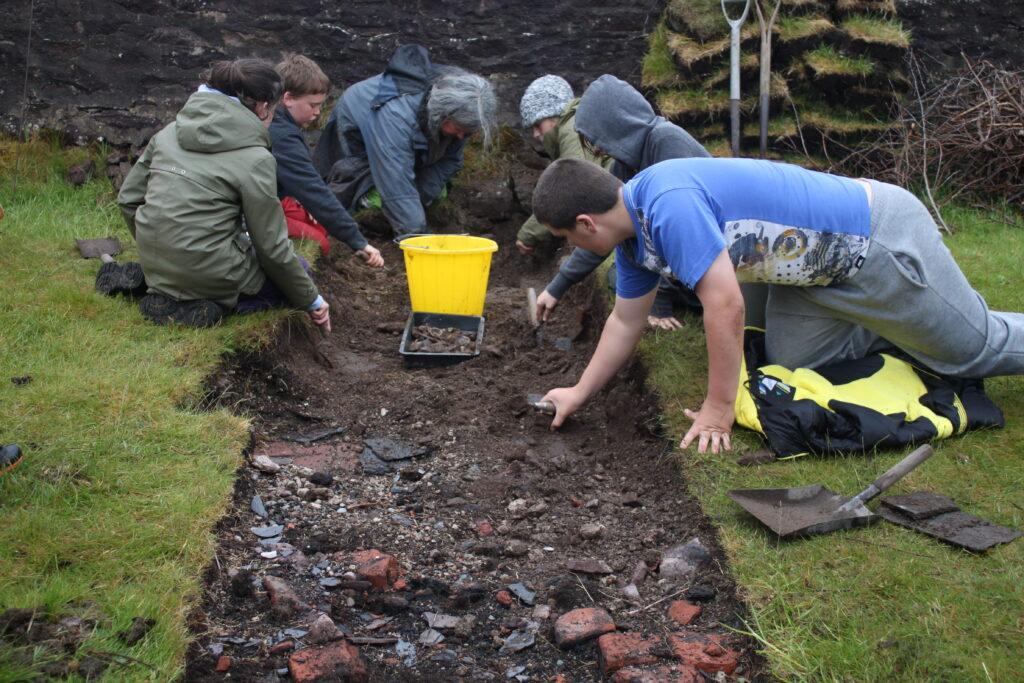Archaeology dig on Isle Martin